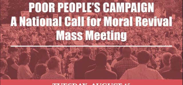 You are specially invited to a Moral Revival Mass Meeting in the style of the civil rights movement with national religious leader Rev. Barber, Repairers of the Breach […]